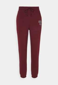 American Eagle - BRANDED PANT - Jogginghose - burgundy