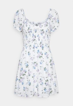 Hollister Co. - SHORT DRESS - Kjole - white floral