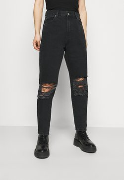Dr.Denim Petite - NORA PETITE - Relaxed fit -farkut - concrete black ripped