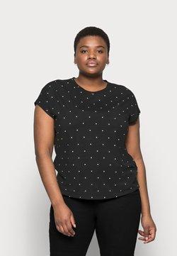 Vero Moda Curve - VMMARLIEAVA WIDE TOP - T-Shirt print - black/marlie dot