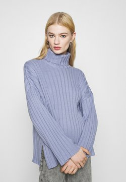 Monki - DONNIE  - Strickpullover - blue dusty solid