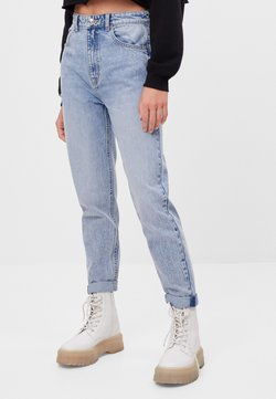 Bershka - MIT UMSCHLAG  - Jeans relaxed fit - blue denim