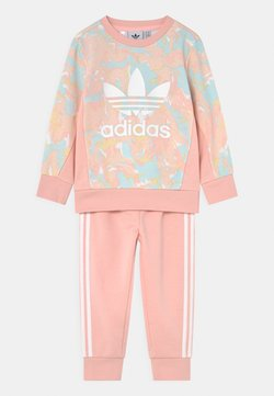 adidas Originals - CREW SET - Trainingsanzug - pink tint/multicolor/haze coral