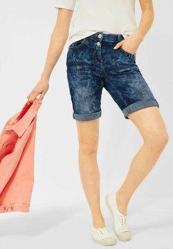Cecil - SLIM FIT - Jeans Shorts - blau