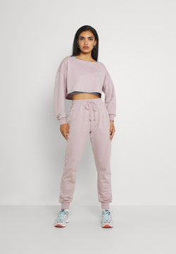 Missguided - COORD OFF THE SHOULDER SET - Trainingsanzug - lilac