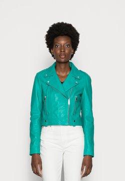 NAF NAF - Leren jas - turquoise