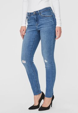 Vero Moda - VMTANYA  - Slim fit jeans - medium blue denim