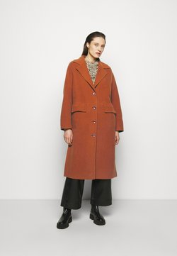 Proenza Schouler White Label - DOUBLEFACE COAT WITH SIDE SLITS - Klassischer Mantel - chestnut