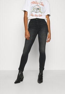 ONLY - ONLBLUSH HIGH WAIST - Jeans Skinny Fit - black denim