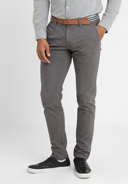 Esprit Collection - SOFT PEACHED WITH BELT - Chinot - dark grey