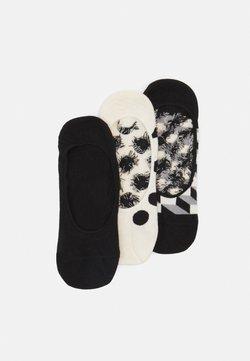 Happy Socks - FILLED DOT LINER SOCK 3 PACK UNISEX - Socken - black/white