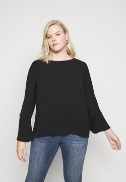 Vero Moda Curve - VMSAGA BELL SLEEVE - Bluse - black