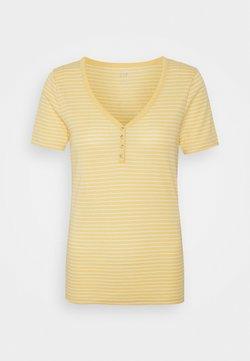 GAP - HENLEY TEE - T-Shirt print - french almond