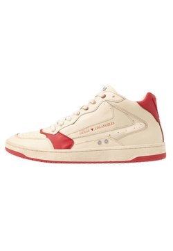 Guess - PESARO MID - Sneaker high - white/red