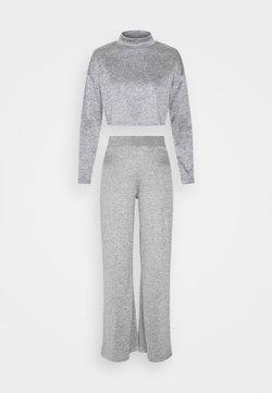Gina Tricot Petite - SALLY SET - Langarmshirt - grey melange