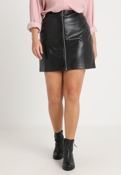 Urban Classics Curvy - LADIES ZIP SKIRT - A-Linien-Rock - black