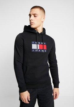 Tommy Jeans - FLAG HOODIE - Sweat à capuche - black