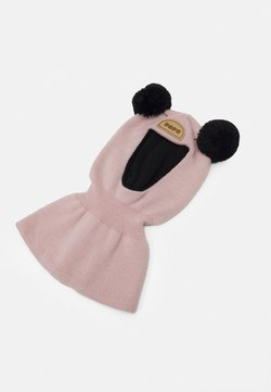 Papu - BALACLAVA BEANIE - Mütze - dusty pink/black