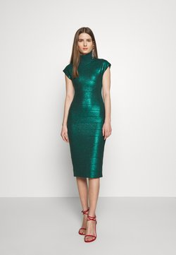 Hervé Léger - MOCK NECK DRESS - Etuikleid - green