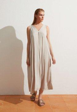 OYSHO - Sukienka letnia - beige