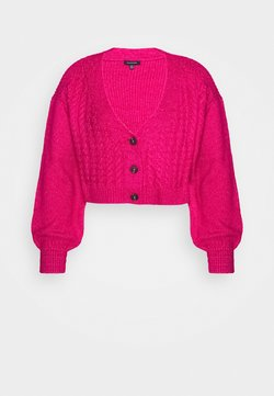 Who What Wear - WIDE NECK  - Gilet - magenta