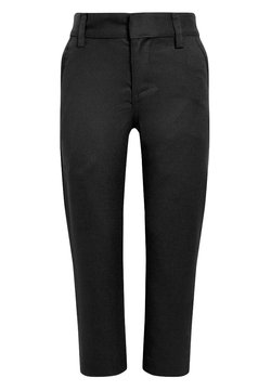 Next - FLAT FRONT TROUSERS  - Stoffhose - black