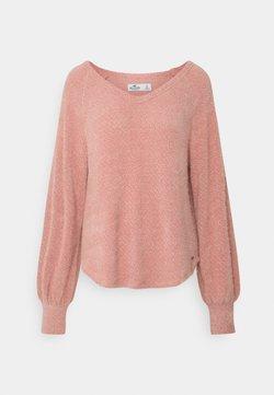 Hollister Co. - COZY EYELASH EASY - Strickpullover - pink