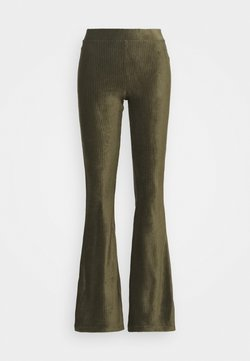ONLY - ONLLOTTA FLARED PANT  - Trousers - balsam green