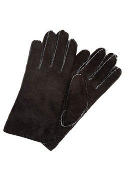Roeckl - CLASSIC SILK LAMB - Fingerhandschuh - black / natur