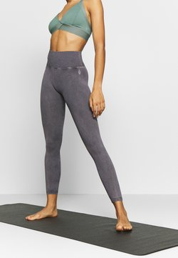 Free People - GOOD KARMA LEGGING - Medias - graphite