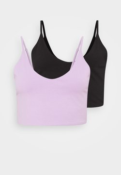Even&Odd - 2 PACK - Top - black/lilac