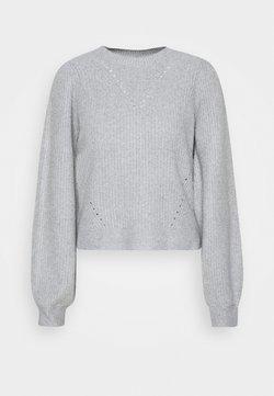 Noisy May Petite - NMLUKE O NECK - Maglione - light grey melange