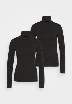 Even&Odd Tall - 2 PACK  - Langærmede T-shirts - black