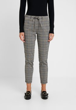 TOM TAILOR - CHECKED PANTS TAPE - Jogginghose - black/white/yellow/grey