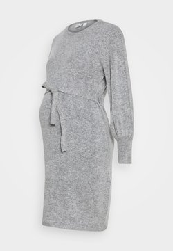 JoJo Maman Bébé - BLOUSON SLEEVE DRESS - Vestido de punto - marl grey