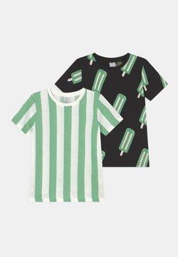 Lindex - MINI ICE CREAM 2 PACK UNISEX - T-shirt con stampa - black