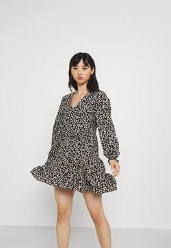 Vero Moda Petite - VMSALINA DRESS - Korte jurk - black aop/salina