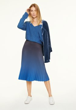 comma - Strickpullover - mottled blue