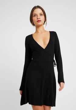 Even&Odd Petite - BASIC DAY DRESS - Vapaa-ajan mekko - black