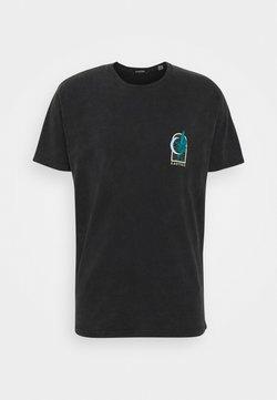 Kaotiko - WASHED LEOPARD - T-shirt imprimé - black