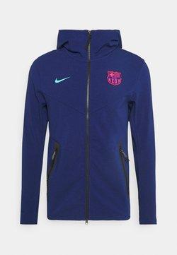 Nike Performance - FC BARCELONA HOODIE - Equipación de clubes - blue void/oracle aqua