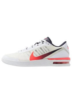 Nike Performance - COURT AIR MAX VAPOR WING MS - Scarpe da tennis per tutte le superfici - white/laser crimson/gridiron