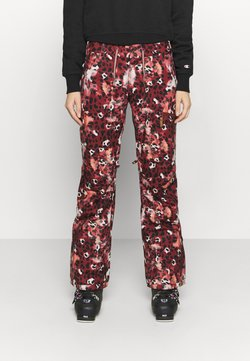 Roxy - NADIA PRINTED - Pantalon de ski - oxblood red