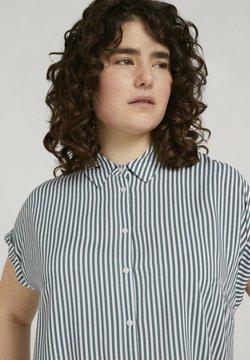 MY TRUE ME TOM TAILOR - SHORT SLEEVE - Hemdbluse - jasper white vertical stripe