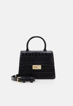 DKNY - JOJO MINI SATCHEL - Handtasche - black/gold