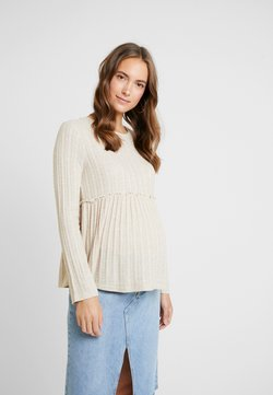 New Look Maternity - LOUNGE LETTUCE EDGE - Pullover - cream