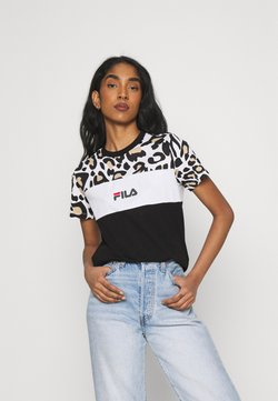 Fila - ANOKIA BLOCKED TEE - T-Shirt print - bold/black/bright white