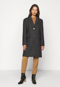 Selected Femme Petite - SLFELINA CHECK COAT - Abrigo - black