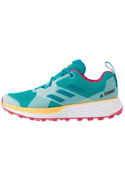 adidas Performance - TERREX TWO - Trail hardloopschoenen - turquoise/active teal/solar gold