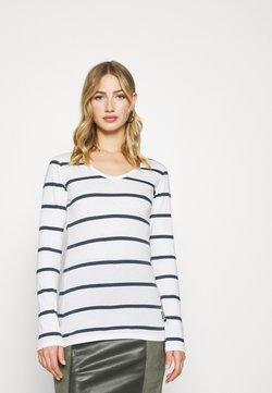 G-Star - CORE EYBEN SLIM - Langarmshirt - milk/vintage navy stripe